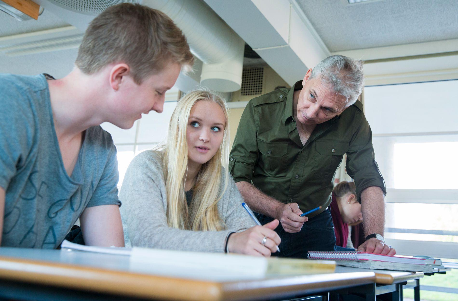LÆRER-BEHOV:  Klasserom landet rundt er en sikker arbeidsplass for lærerstudenter, mener NAV. ILLUSTRASJONSFOTO