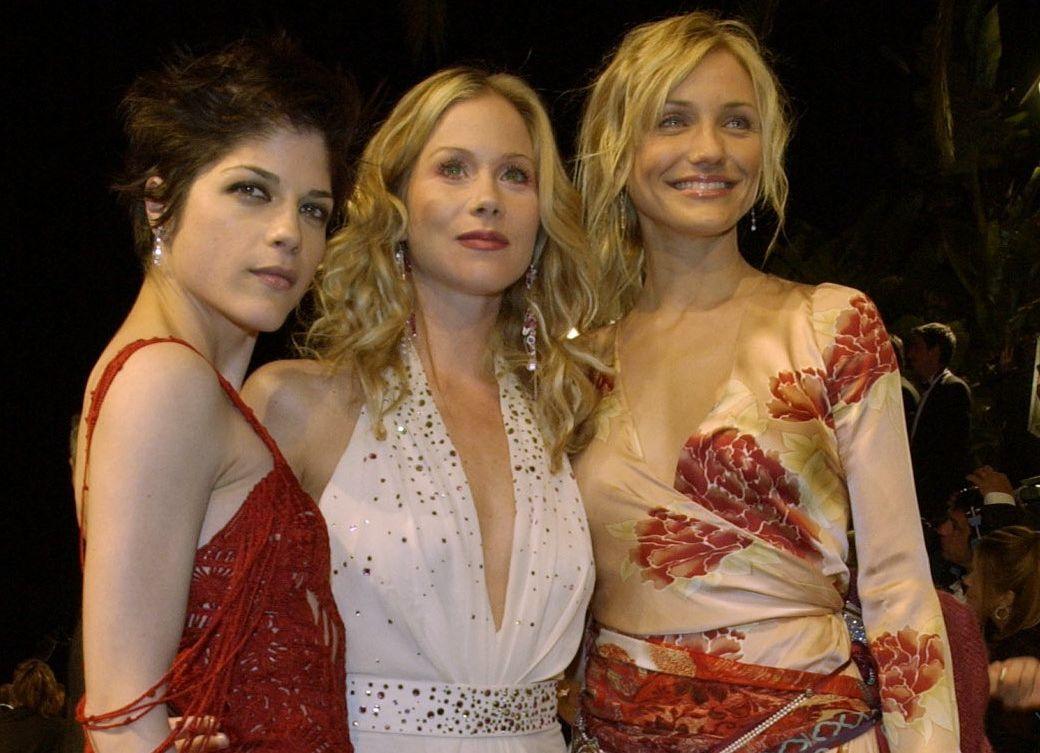 DEN GANG DA: Selma Blair, Christina Applegate og Cameron Diaz på Vanity Fair-fest i 2002.