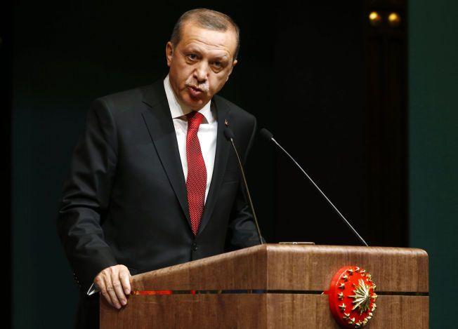 FORRÆDERI: Tyrkias president Recep Tayyip Erdogan mener tyrkere som bruker prevensjon gjør seg skyldige i forræderi.