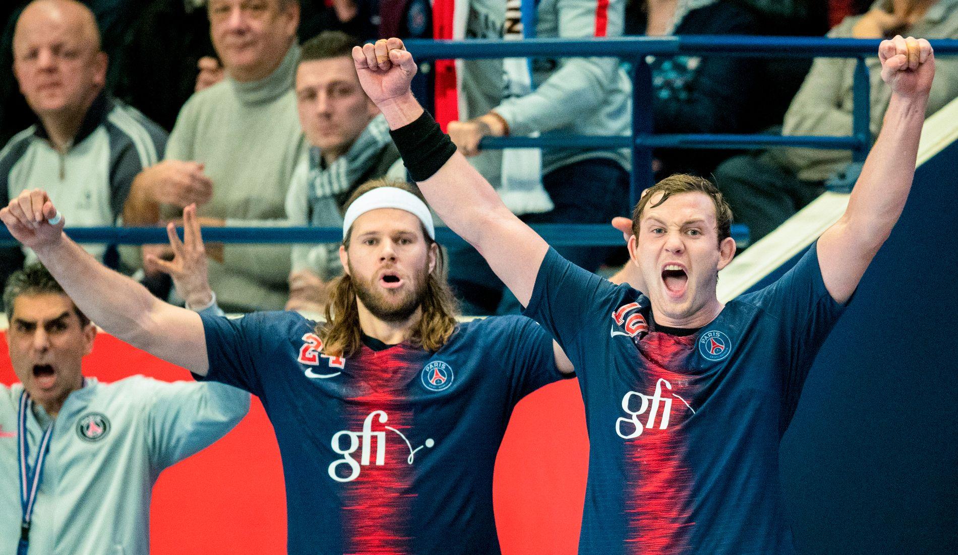 KOMPISER OG «FIENDER»: Sander Sagosen og Mikkel Hansen har jublet mye sammen denne sesongen, men i Herning er de motstandere.