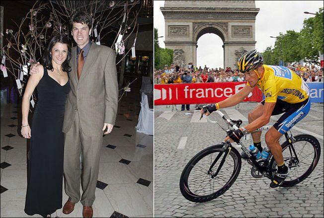 KJEMPET MOT ARMSTRONG: Ekteparet Betsy og Frankie Andreu var venner med Armstrong (t.h.) - men slet lenge etter å ha vitnet mot den abdiserte sykkelkongen i 2005.