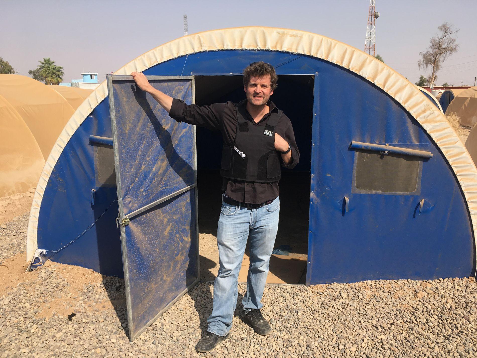 I IRAK: Norske Aasmund Løk på jobb for UNICEF i Irak.