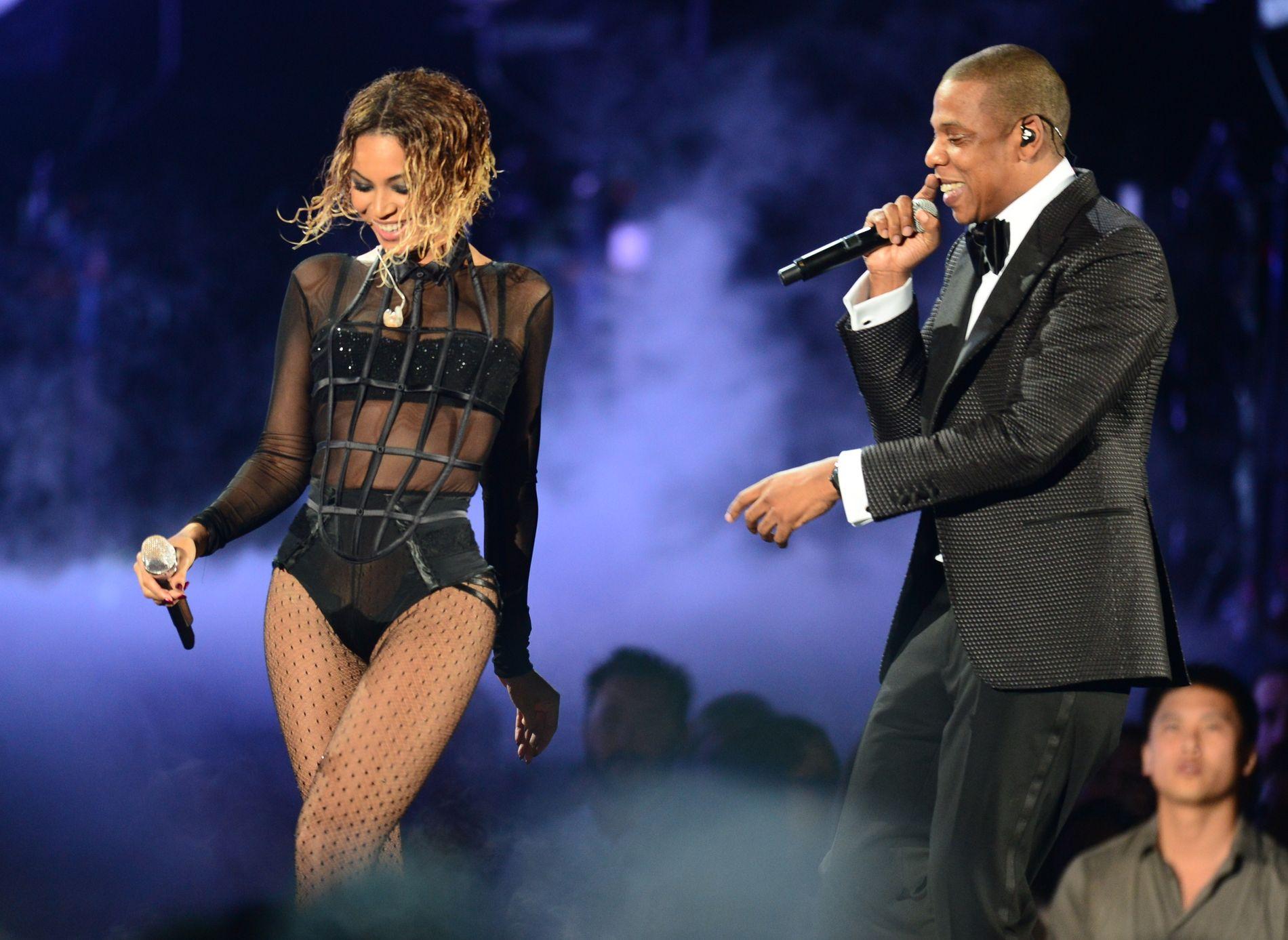 SAMMEN: Beyoncé Knowles og Jay-Z har hatt sine veldokumenterte utfordringer i forholdet. Nå har de laget plate for å dokumentere det motsatte. Her fra en tidligere anledning.