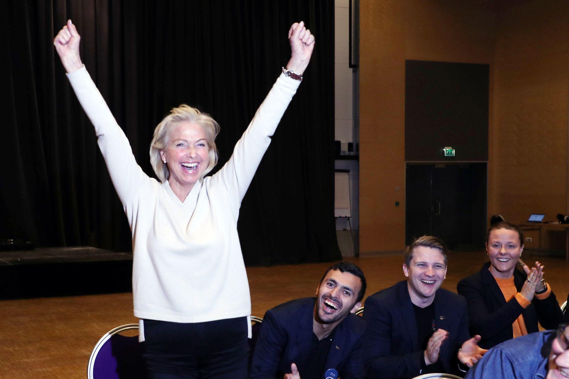 NY LEDER: Berit Kjøll vant med knappest mulig margin og etterfølger dermed Tom Tvedt som idrettspresident. Her er hun etter valget på Lillehammer i slutten av mai.