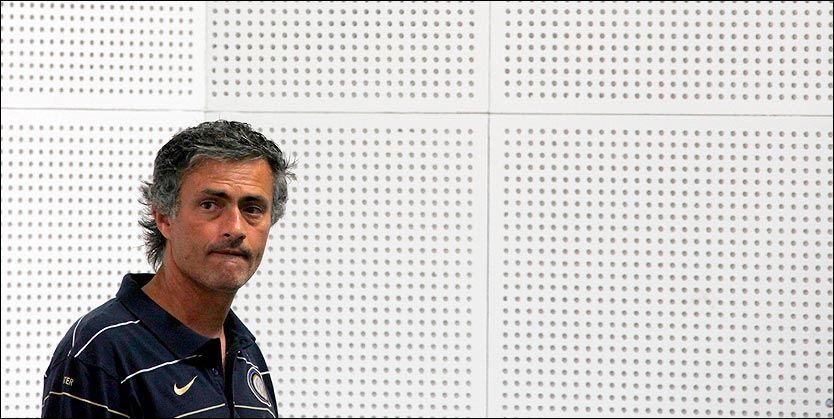 INTER-SJEF: Trener José Mourinho får et gjensyn med sin tidligere stjernespiller Zlatan Ibrahimovic på onsdag i Champions League. Foto: REUTERS