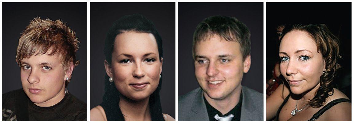 OMKOM: Marius Voldsund, Kamilla Grimstad, Steffen Myklebusthaug og Kelly Nerland Remøy.