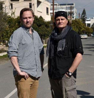 PÅ KYPROS: Rune Thomas Ege og Harald Henden.