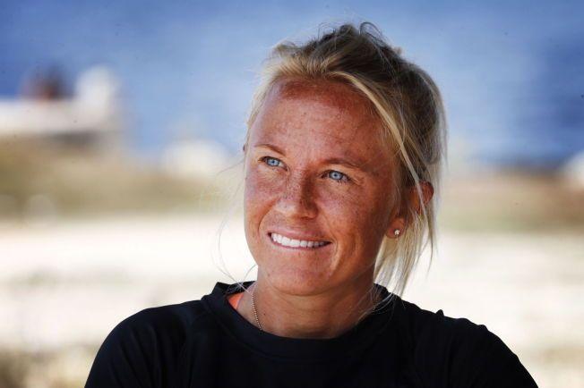 FISKELEI: Kari Schibevaag ble servert fisk seks dager i uken. Kanskje var det middagene som trakk henne mot vannet?