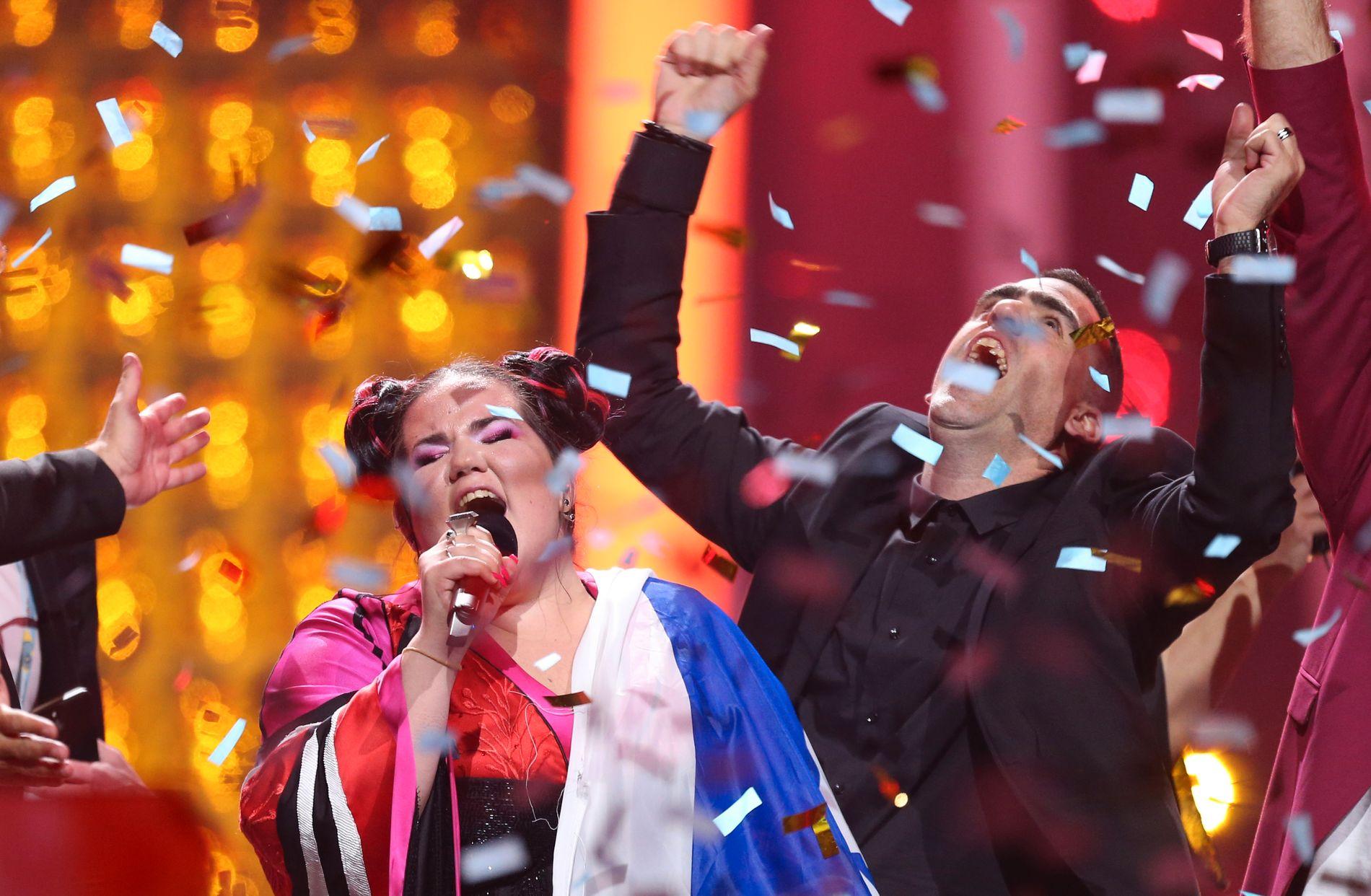 TIL TOPPS: Sterke politiske krefter i Israel vil ha neste års Eurovision-finale til Jerusalem etter at Netta i helgen gikk til topps med «Toy».