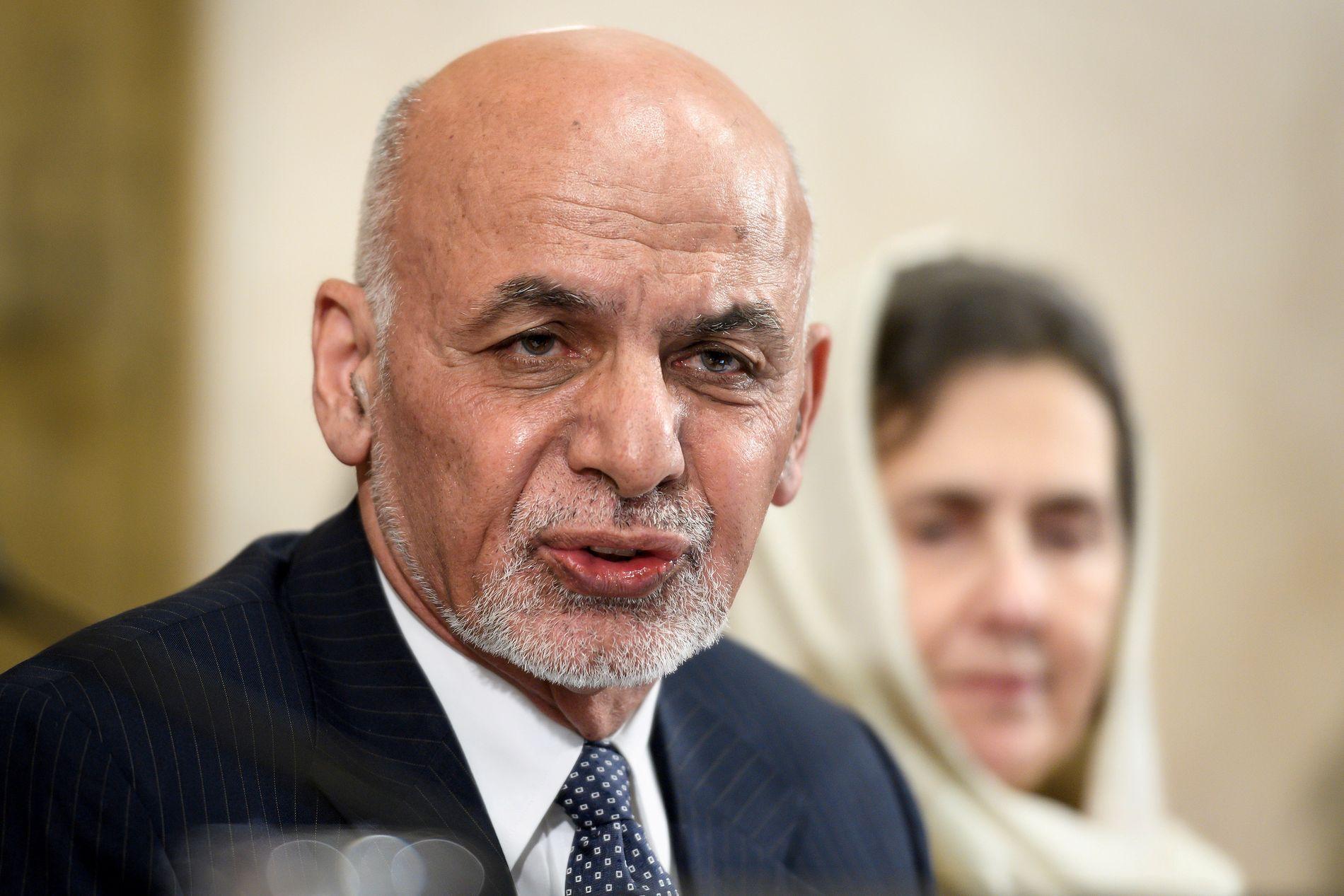 SKULLE TIL USA: Afghanistans president Ashraf Ghani.