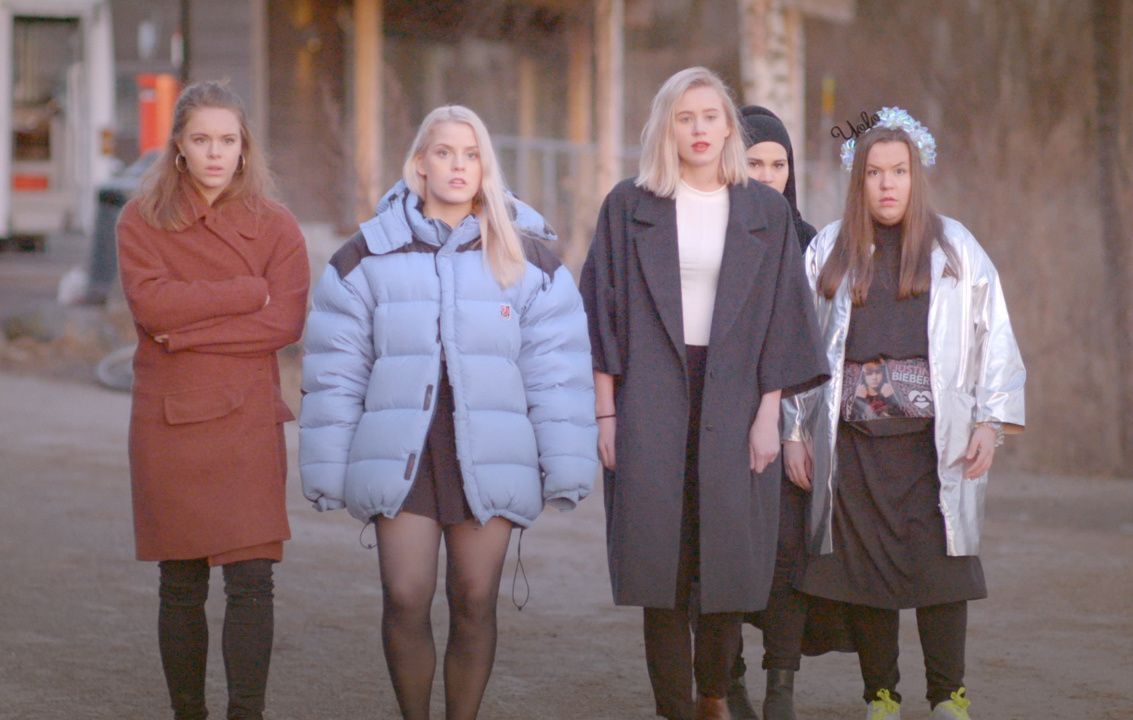 ORIGINALEN: Jentene fra norske «Skam», i serien kjent som Eva, Vilde, Nora, Sana og Chris.