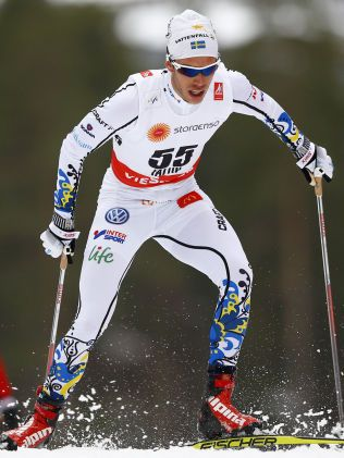 HOLDT AKKURAT IKKE: Marcus Hellner var 20 sekunder bak Anders Gløersen som tok bronsemedaljen på 15-kilometeren, og var ikke spesielt fornøyd med det.