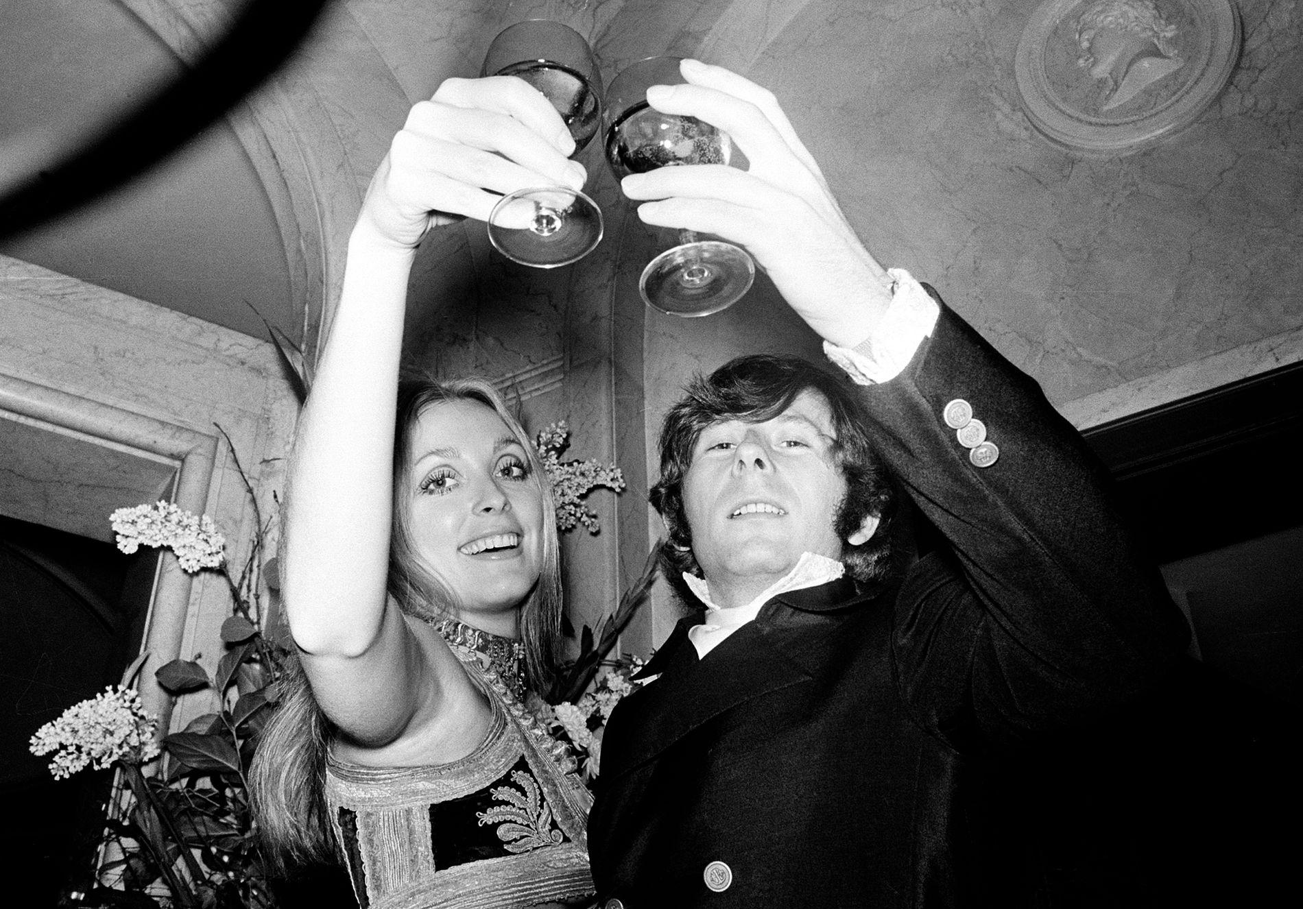 FILMPAR: Sharon Tate og Roman Polanski i 1969 – et halvt år før hun ble drept.