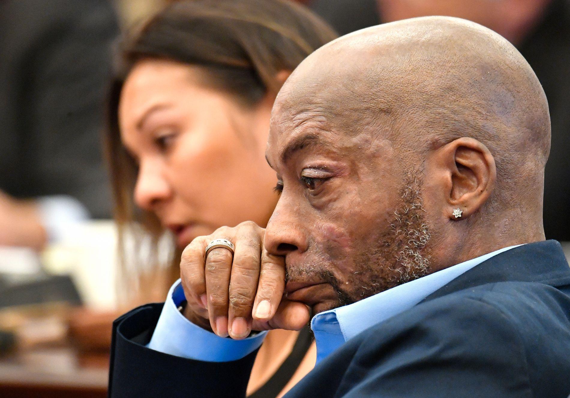 VANT: DeWayne Johnson har Non-Hodgkinslymfom. Her i retten torsdag.