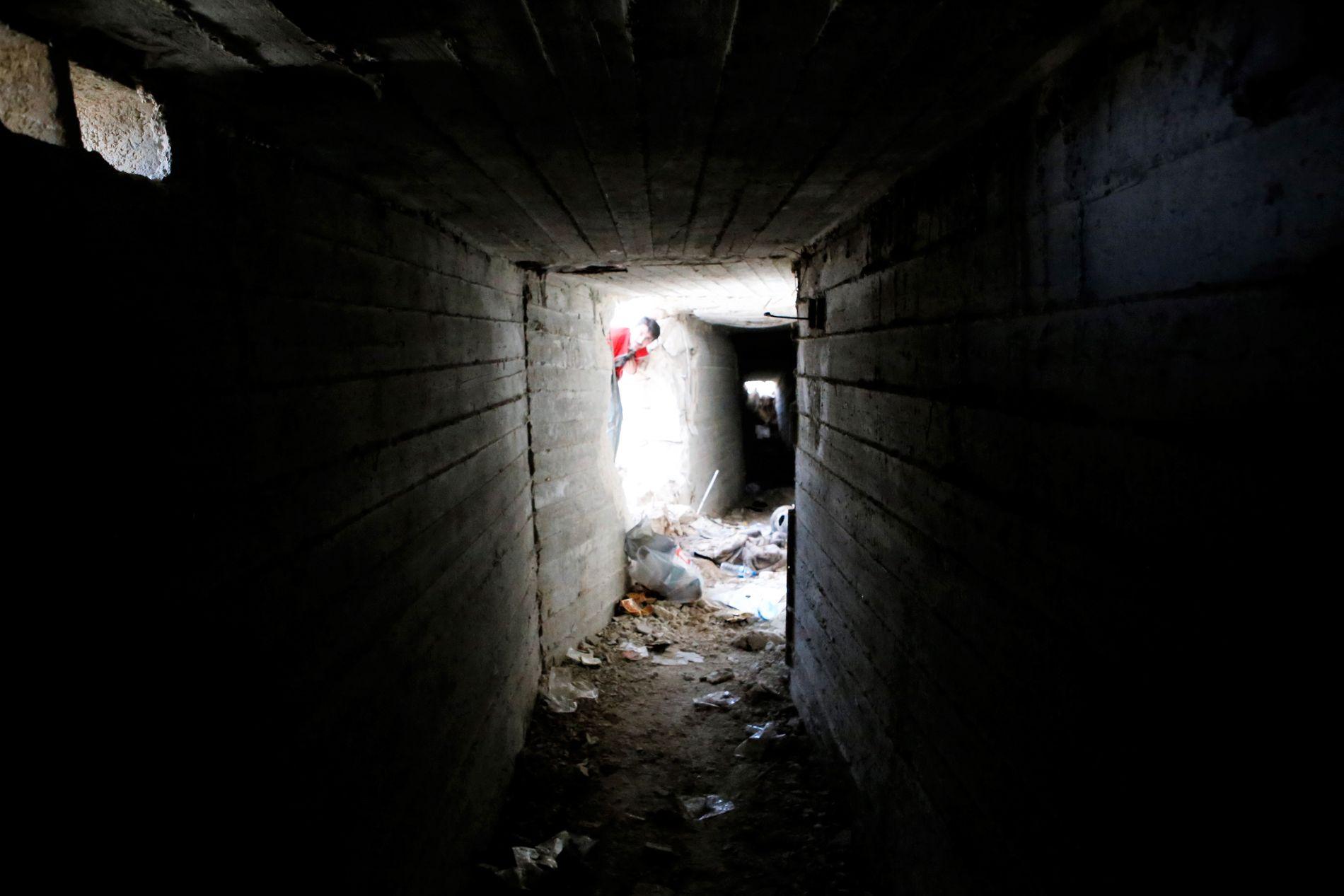 TUNNELENE: YPG skal ha bygd et nettverk av underjordiske tunneler for å skjule seg for Tyrkias angrep.