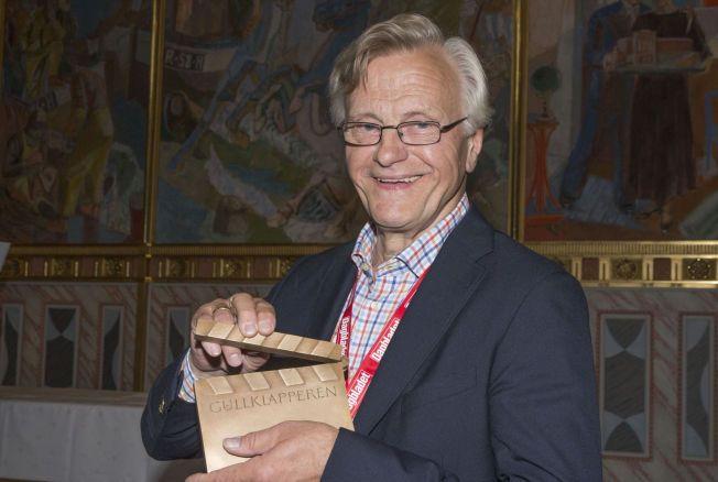 VANT: Harald Mæle fikk lørdag ettermiddag Amandakomiteens Gullklapper, den fornemste interne bransjeprisen man kan få i Norge.