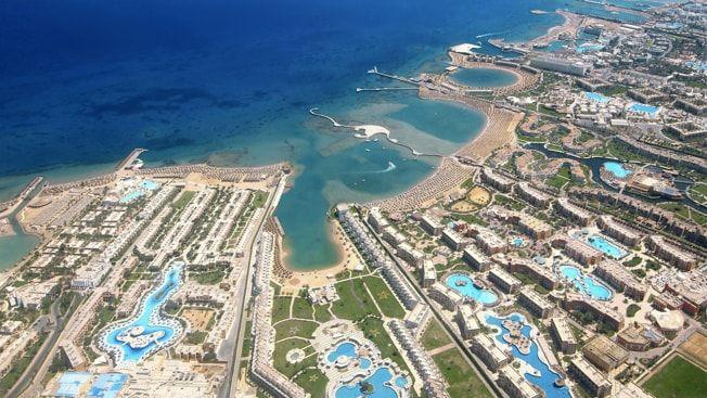 BADEBY: Hurghada har vært populær blant turister og ligger ved Rødehavet i Egypt.