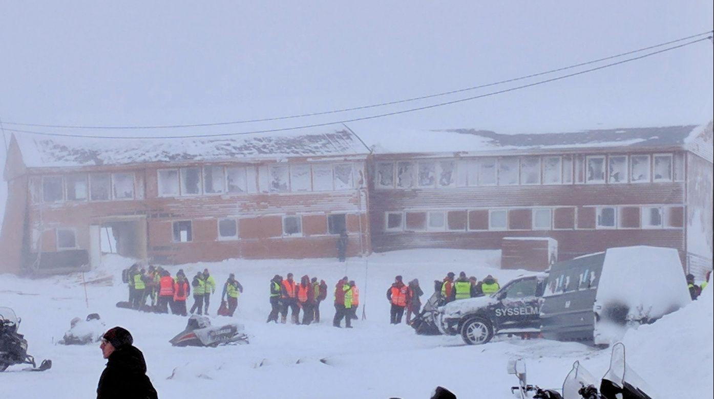 HAR SKJEDD FØR: 21. februar i år gikk det et snøskred i Longyearbyen på Svalbard.