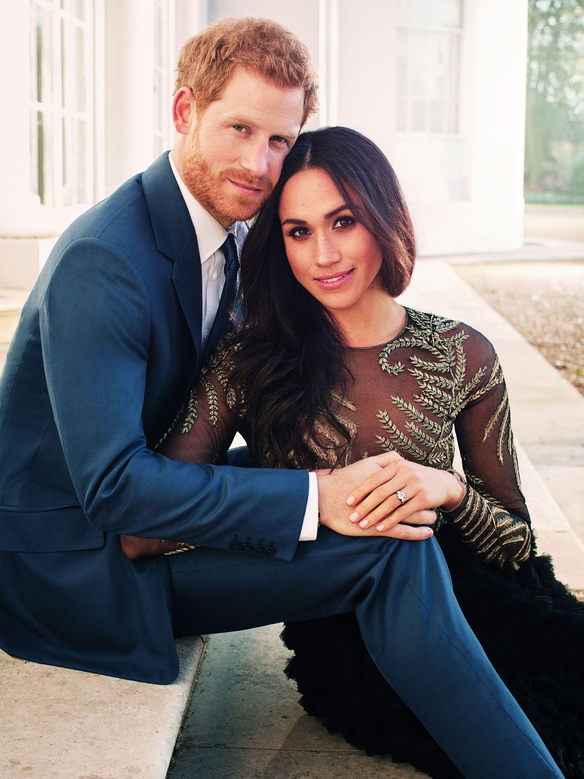HELT NYE BILDER: Prins Harry og Meghan Markle har latt seg fotografere før jul.