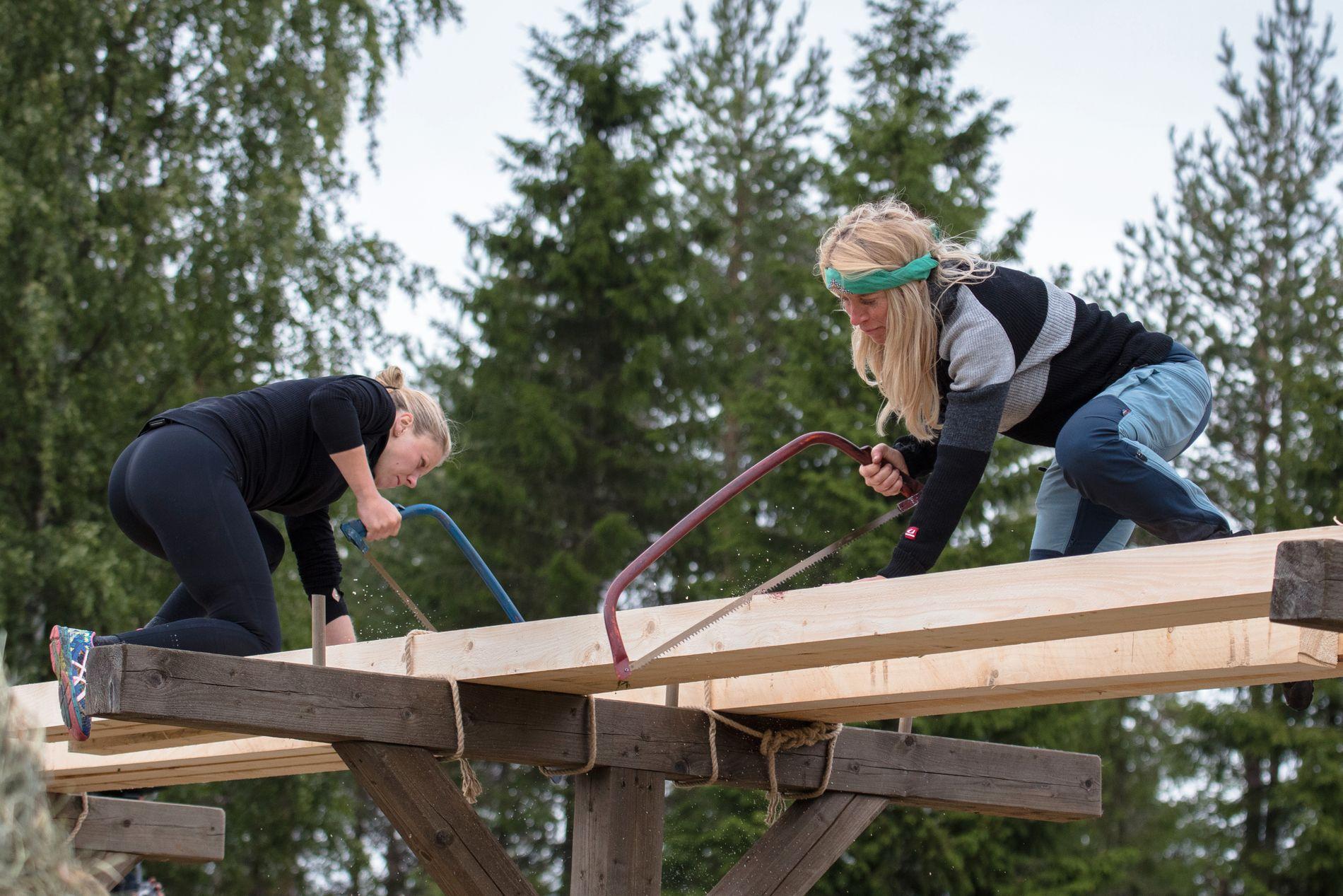 MØTTE OVERMAKTEN: Tiril Sjåstad Christiansen viste hva hun er god for, og danket Trude Mostue ut av «Farmen kjendis».