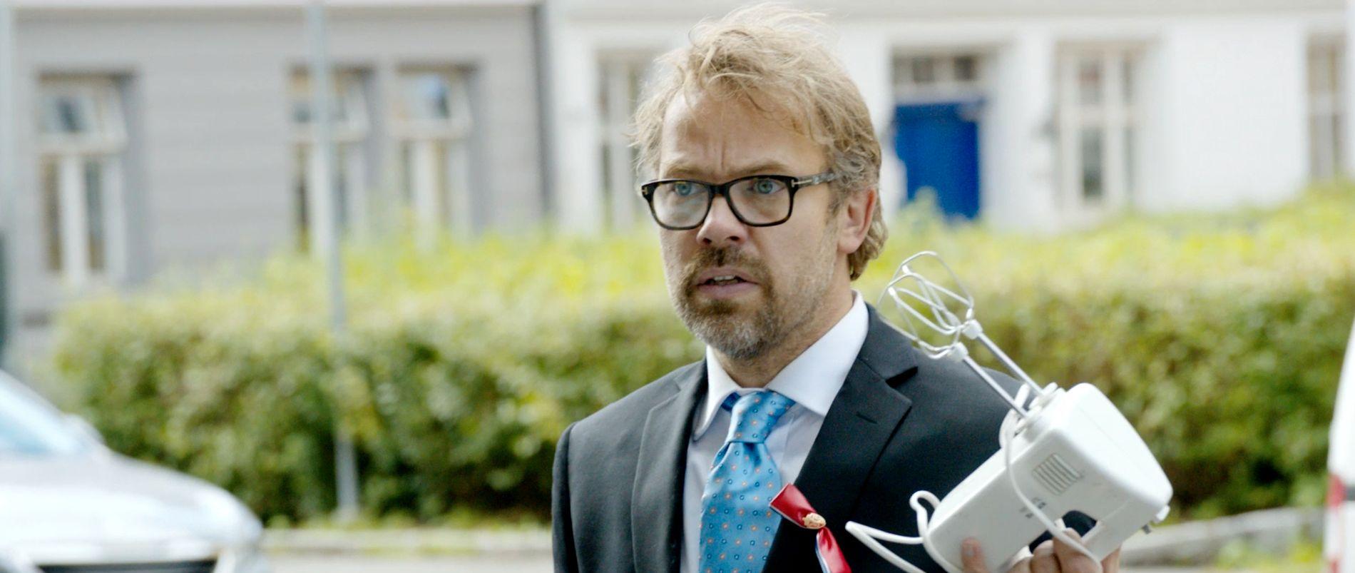 KULTURMANN I KNIPE: Christian Skolmen i «Epleslang».