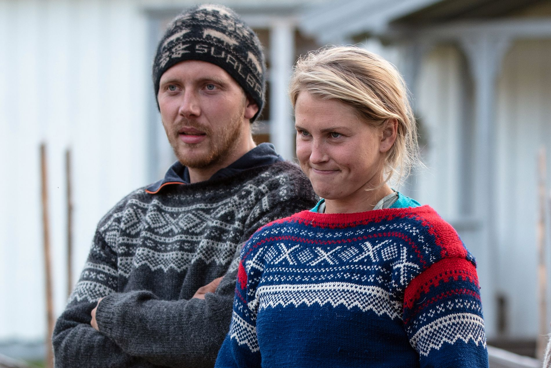 TØYET GRENSER: Kjetil Nørstebø og Tonje Frøystad Garvik spiste og drakk godt av mat og drikke de fikk inn på gården på «ulovlig» vis.