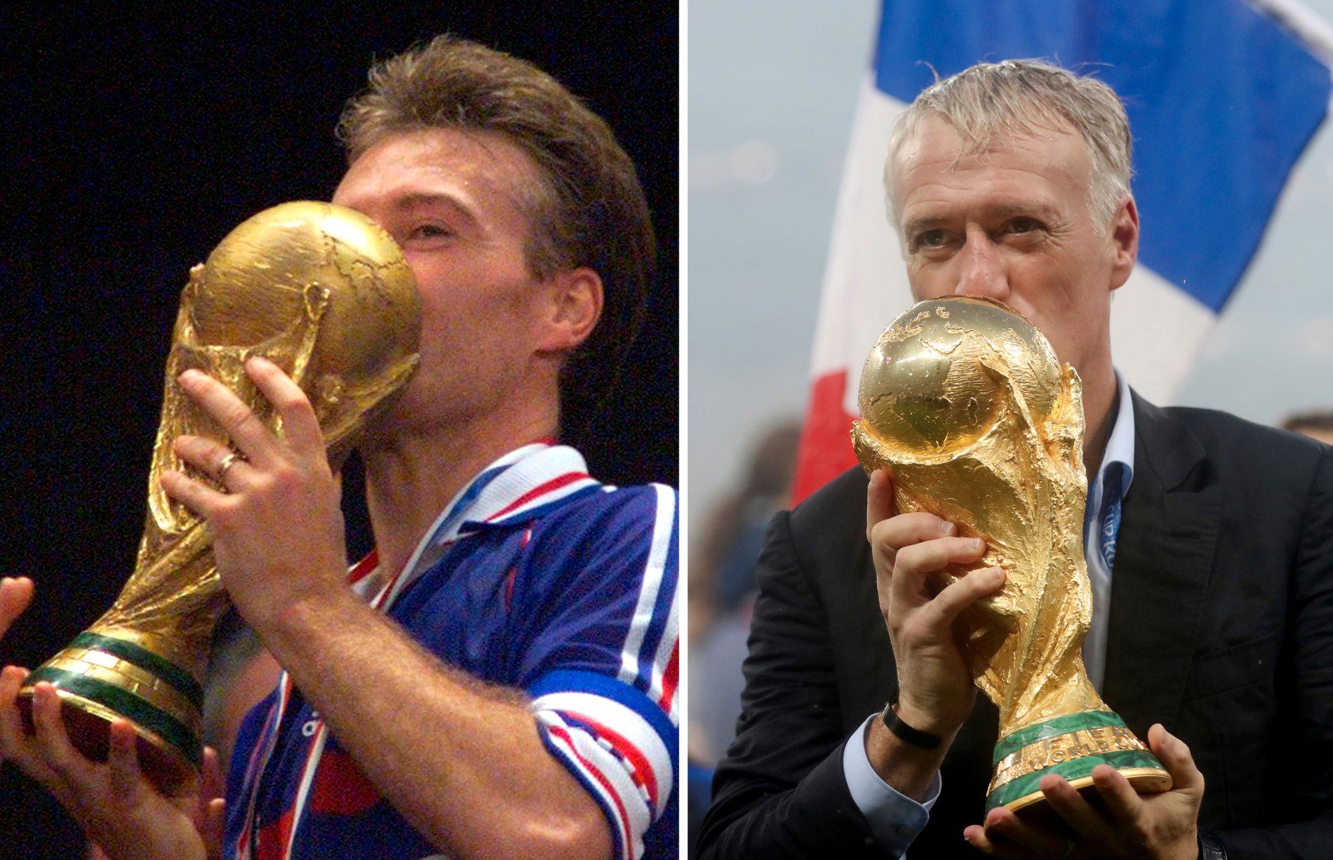 MESTER X2: Didier Deschamps er én av få som har vunnet VM som både spiller og manager. Først i 1998, så 20 år senere.