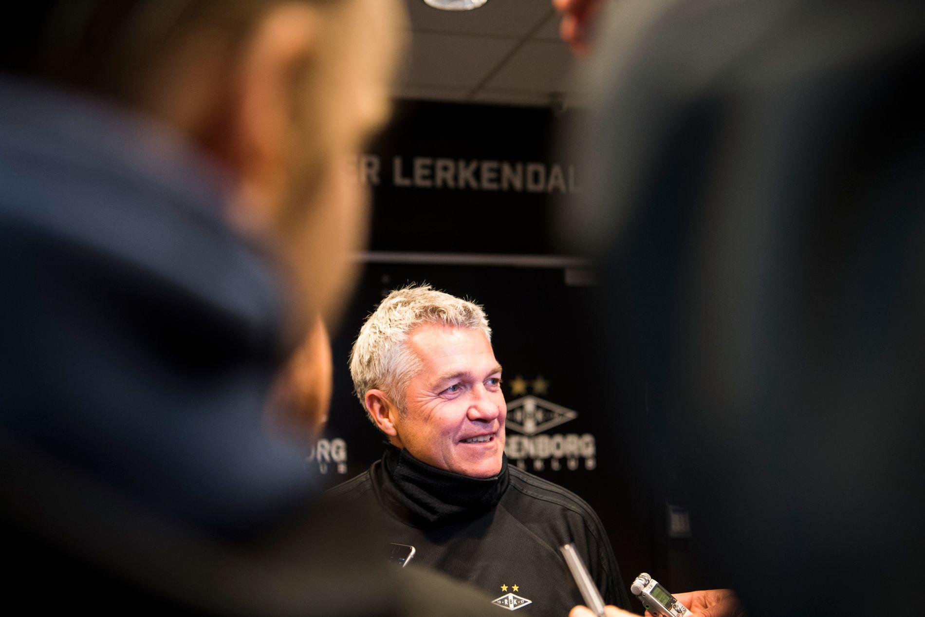 GLAD-KÅRE: Kåre Ingebrigtsen var lettet etter den overbevisende seieren over Molde. Har møter han pressen på Lerkendal.