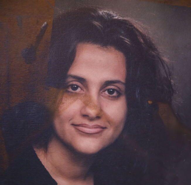 SHILAN SHORSH: Den norsk-kurdiske menneskerettighetsforkjemperen døde i en brann i sin egen leilighet i Bergen 18. mai 2013. Dette portrettet av henne hang på veggen i soverommet hvor brannen startet, og bildet er fremdeles merket av brannen.