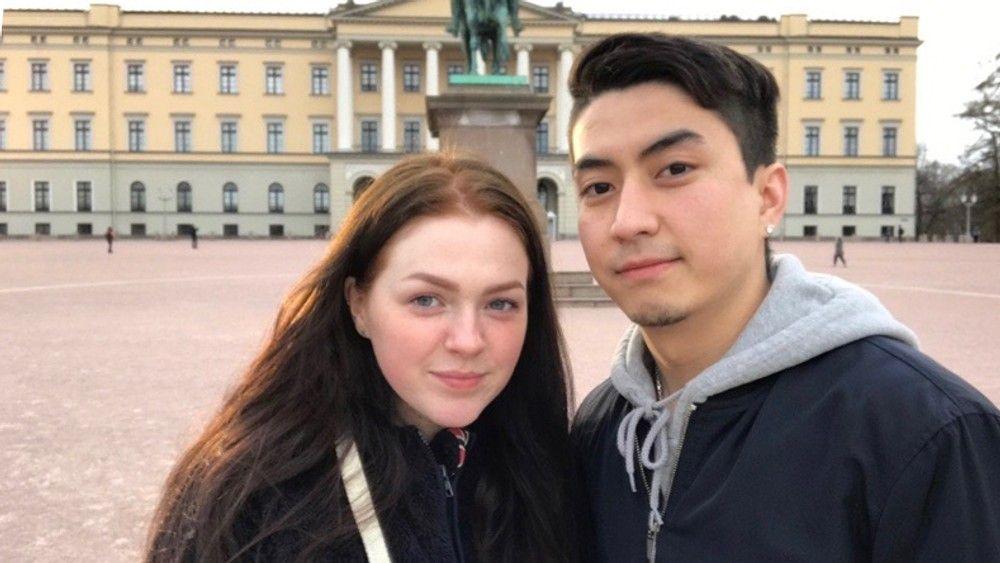 KJÆRESTER: Gabriele Rocyte (21) og kjæresten Yasin Abbasi (22).