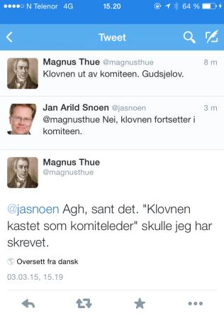 RETT FREM: Politisk rådgiver i Kunnskapsdepartementet, Magnus Thue, om Jaglands avgang.