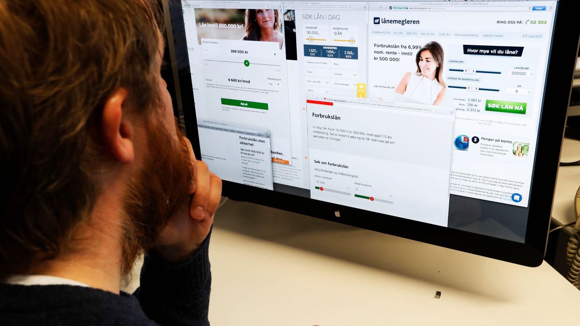 KJAPPE FRISTELSER: De siste årene har markedsføringen av forbrukslån i ekspressfart eksplodert i Norge. Men bransjen mangler kontrollrutiner og innvilger en drøss av lån basert på feilaktige opplysninger, ifølge banksjef.
