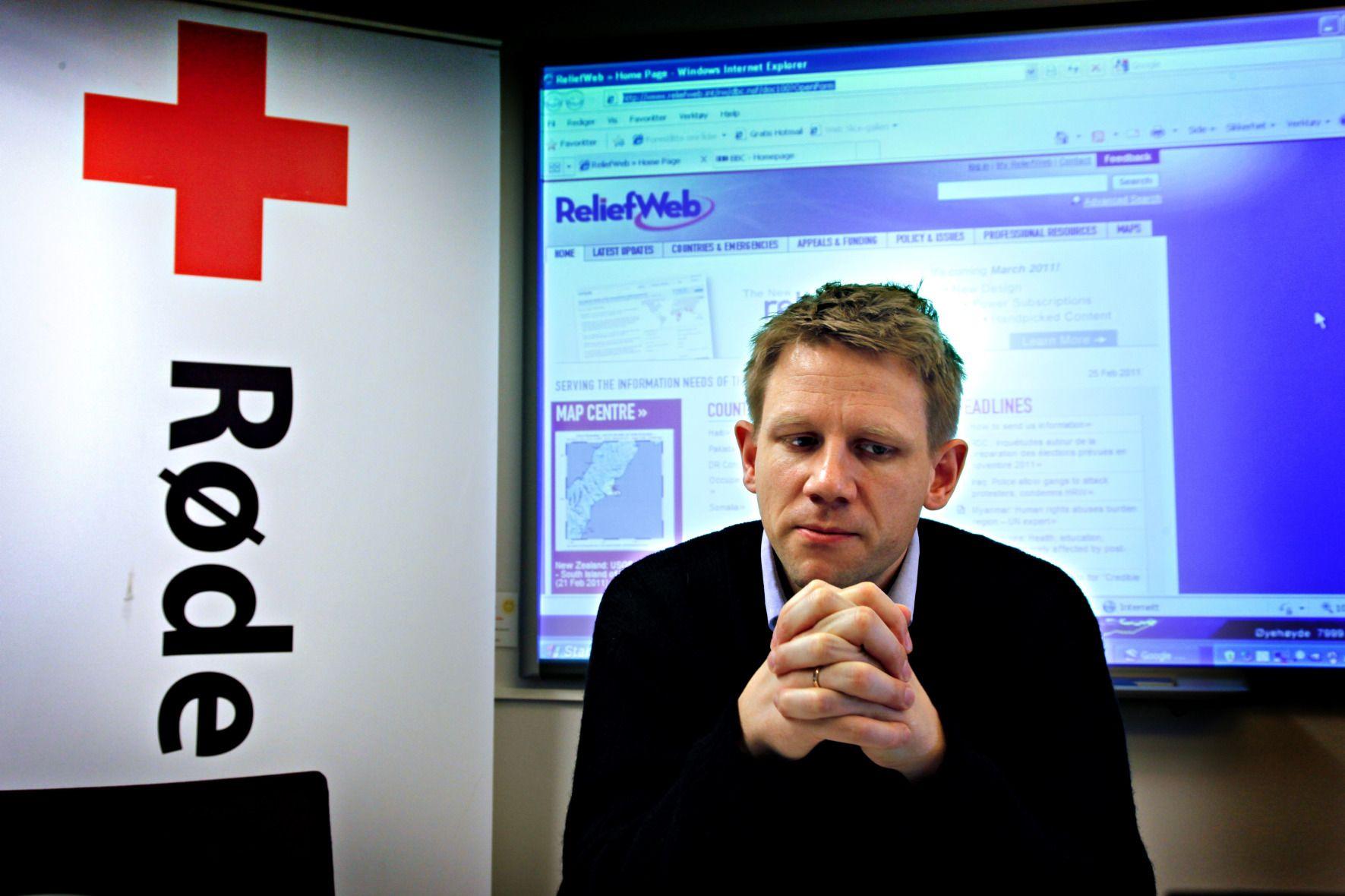 9ff648d7 BEKLAGER: Tørris Jæger er utenlandssjef i Norges Røde Kors. Foto: Katrine  Nordli/Aftenposten.