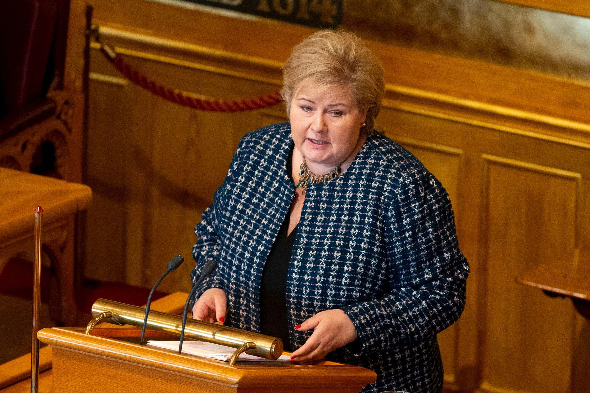 KREVENDE: Erna Solbergs abortflørt får kritikk fra flere hold.