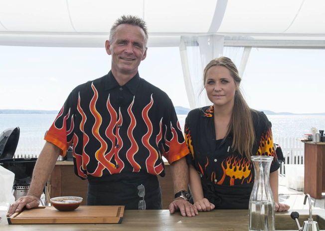 STAKK AV MED SEIEREN: Jeanette og Johnny Krosby gikk til topps i TV2s program «Norges Grillmester».