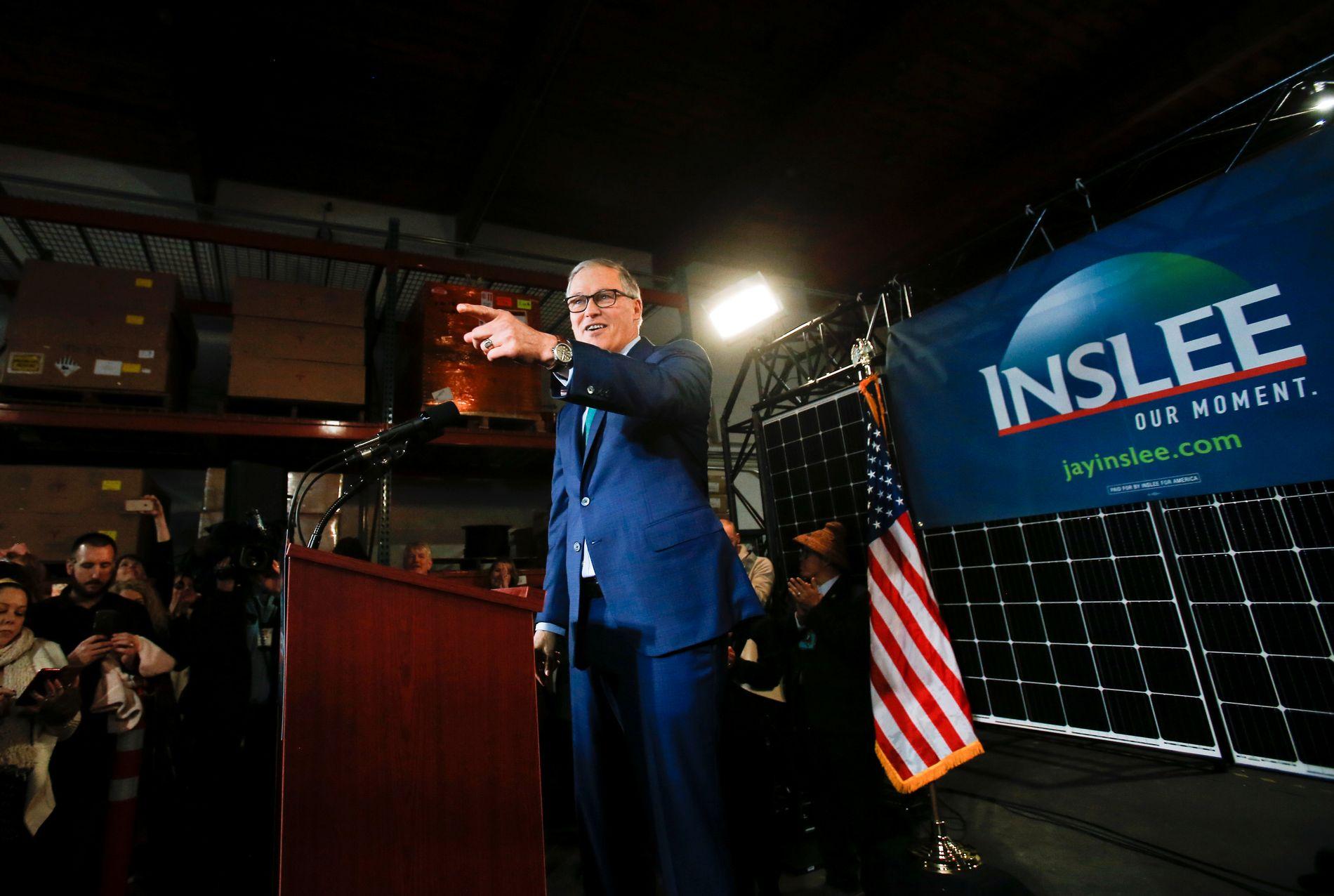FERSKING: Jay Inslee er den siste som har meldt seg på kampen om å bli Demokratenes kandidat. Han annonserte 1. mars.