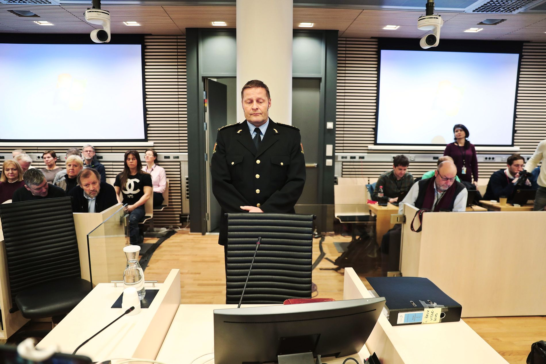 VITNER: Seksjonssjef Einar Aas forklarer seg for Oslo tingrett i rettssaken mot narkotikatiltalte Eirik Jensen.