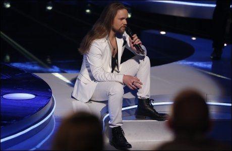 UREDD: Eirik Søfteland overrasket nok en gang dommere og publikum med sitt låtvalg. Foto: Trond Solberg/VG