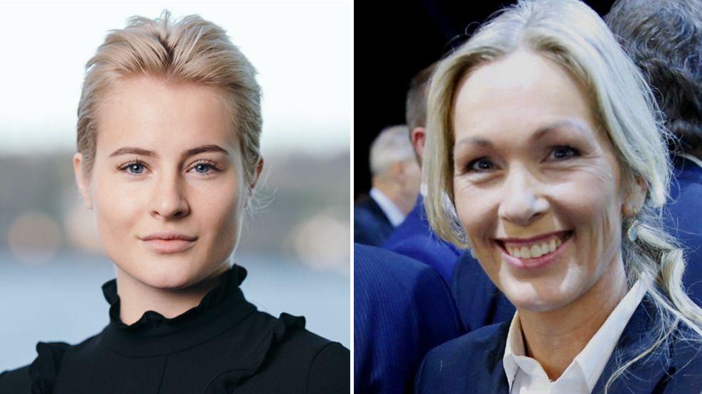 LEDERFORBILDET: Ferd-arving Katharina Andresen (t.v.) har fått deltidsstilling i Innovasjon Norge, hvor hennes forbilde Anita Krohn Traaseth er administrerende direktør (t.h.).