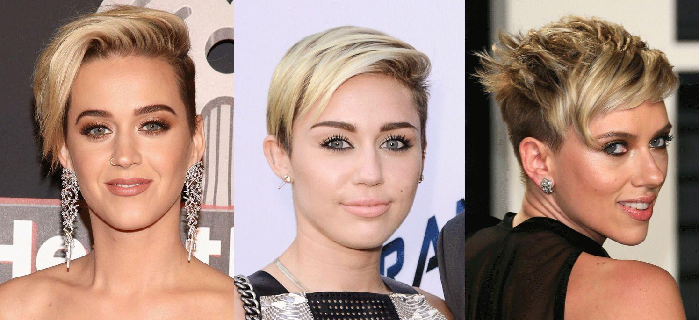 FORBILDER: «Nye» Katy Perry (t.v.) har hermet etter Miley Cyrus og Scarlett Johansson.