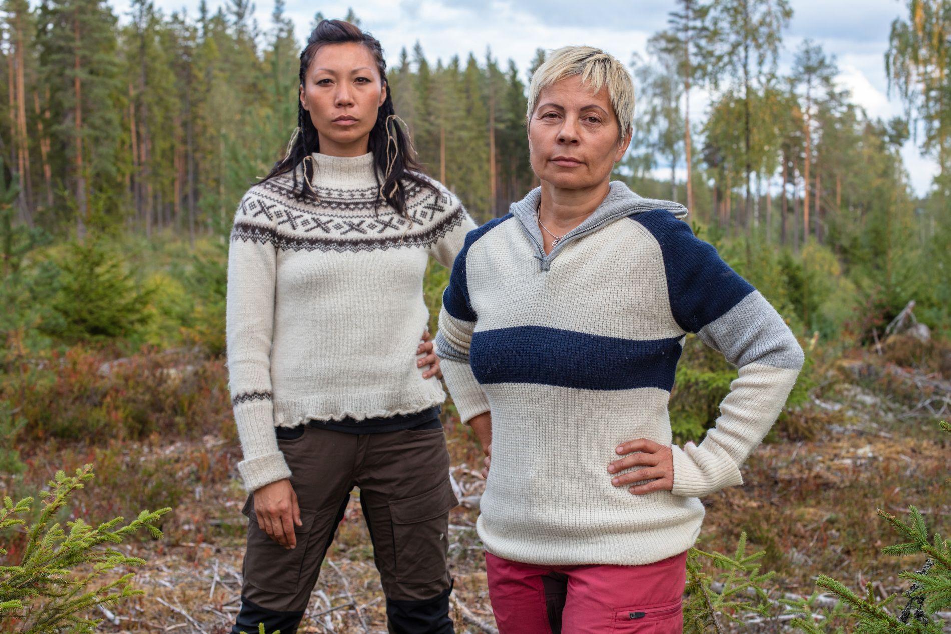 MØTTES I KAMP: Irene og venninnen Sølvi Monsen havnet uklare, og endte opp i tvekamp mot hverandre i forrige uke.