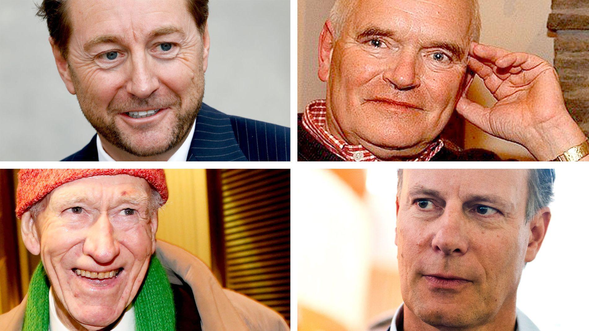 RIKINGENE PÅ TOPPEN: Nok en gang toppes listen over Norges rikeste av disse fire herrene. Kjell Inge Røkke, Trond Mohn, Olav Thon og Johan H. Andresen har en samlet ligningsformue på 29,6 milliarder kroner.