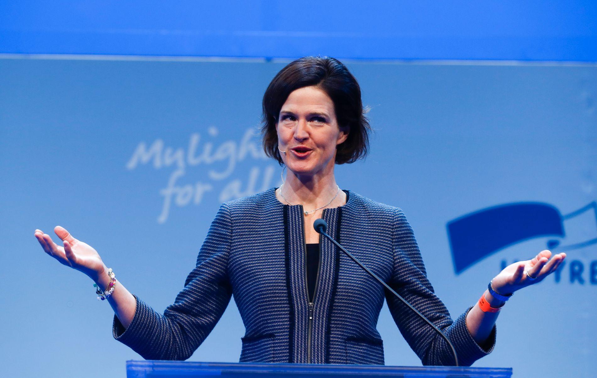 I NORGE: I mars besøkte Kinberg Batra Norge for å holde en tale i forbindelse med søsterpartiet Høyres landsmøte i Oslo.