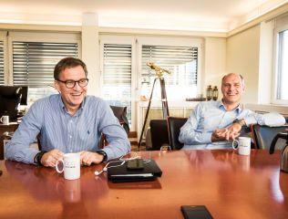 KLART STØRST: Brødrene Roger og Kristian Adolfsen er størst i asylmarkedet gjennom selskapet Hero Norge AS.