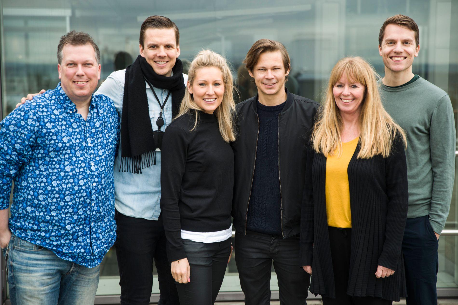 JURYEN: Øyvind Solstad, Morten Olsen, Lise Rønneberg, Mats Borch Bugge, Kari Grothe Karlsen og Atle Jørstad. Vegard Harm og Hanan Jahr var ikke til stede da bildet ble tatt.