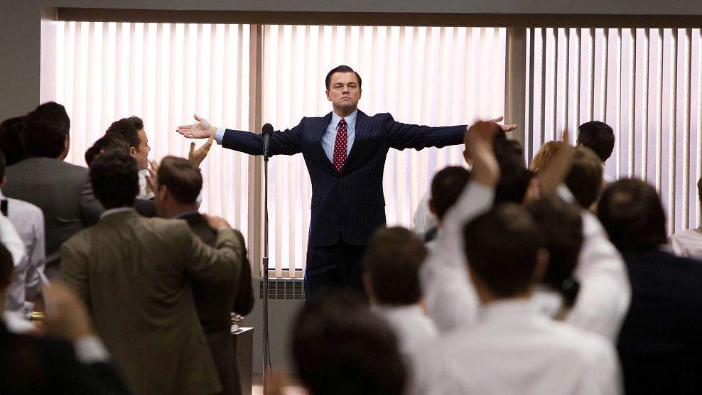 WOLF OF WALL STREET: Leonardo DiCaprio spiller svindleren Jordan Belfort i Martin Scorseses film Wolf of Wall Street.