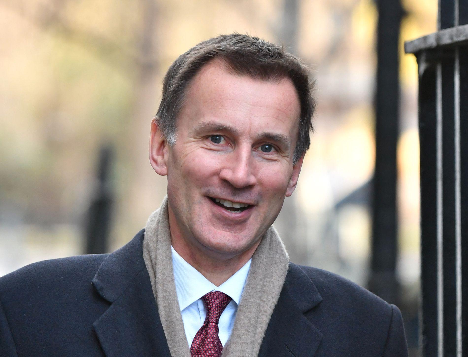 UTENRIKSMINISTER: Jeremy Hunt overtok som Storbritannias utenriksminsiter etter at Boris Johnson forlot posten i protest.