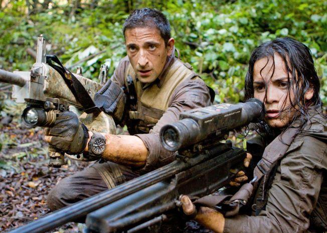 JAKTER/JAGET: Royce (Adrien Brody) og Isabelle (Alice Braga) får nok å sloss mot i «Predators».