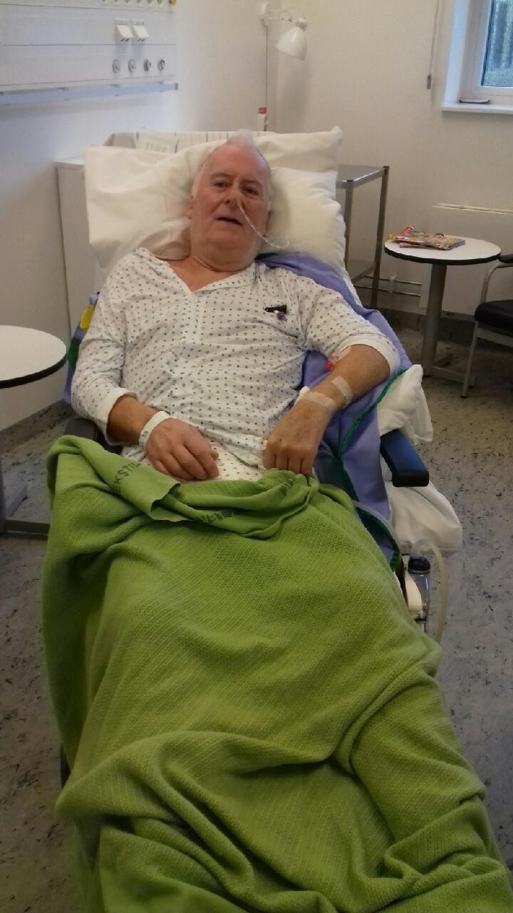 SYK: Stein Jensen fikk hjertestopp for seks uker siden. Etter mange dager i koma våknet han med hukommelsessvikt.