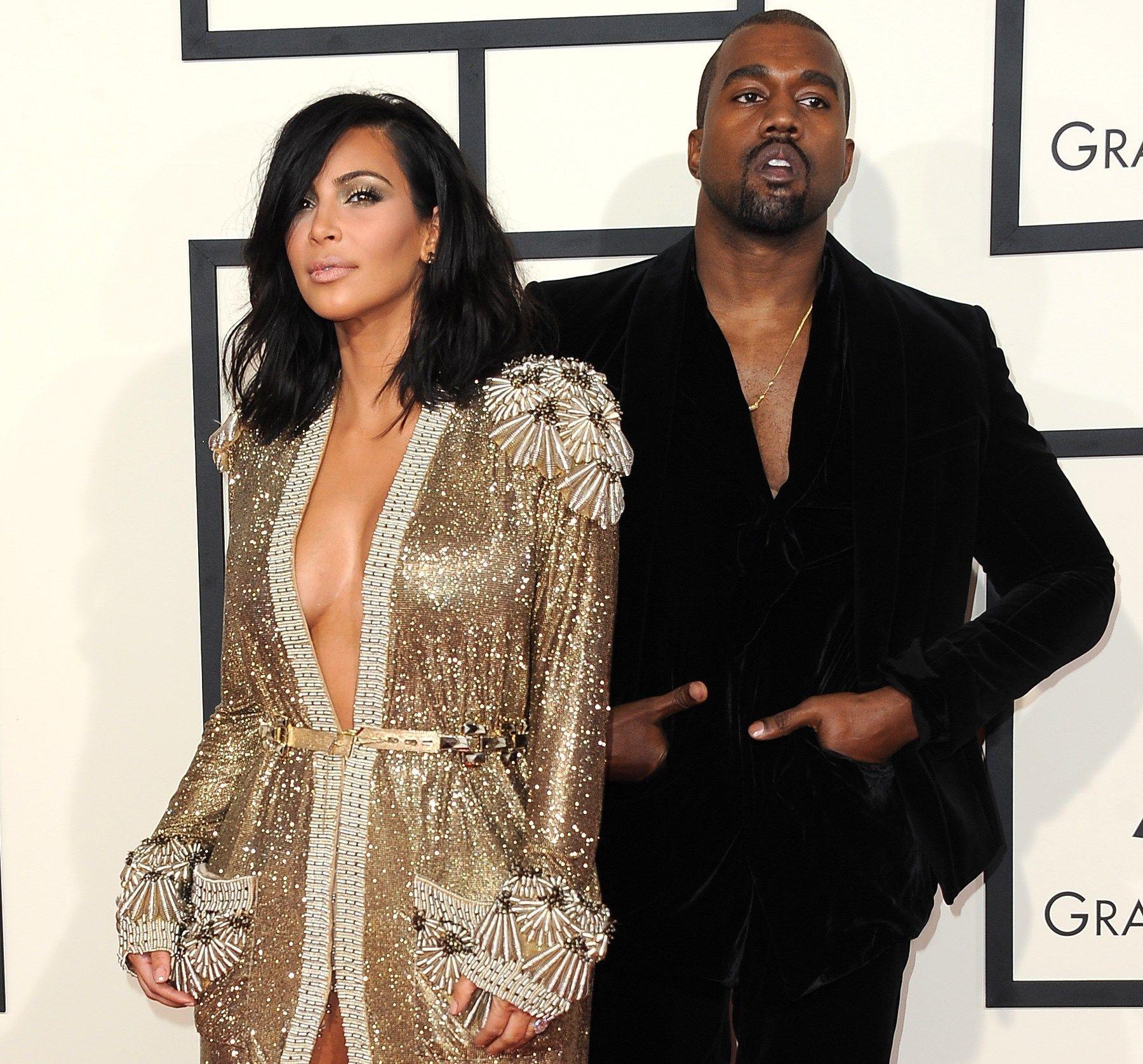 «NORGESVENN»: Kanye West, her sammen med sin kone Kim Kardashian. Foto: AFP